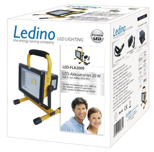 Ledino LED-Akkustrahler 20 W Li-Ionen Akku 8,8 Ah LED-FLA2009