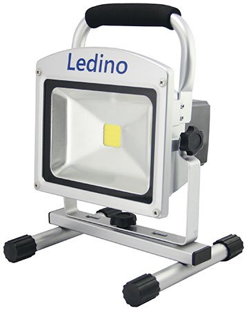 ledino led flah2010d akkustrahler 20 w 1800 lumen led baustrahler. Black Bedroom Furniture Sets. Home Design Ideas
