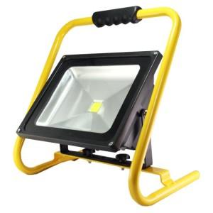 LED's light Akku LED Baustrahler 50 Watt, 4200 Lumen